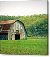 Riverbottom Barn In Spring Canvas Print