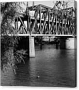 Riverfront Bridge Canvas Print