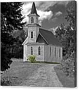 Riverside Presbyterian Church 1800s Bw Canvas Print