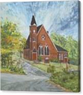 Riverton Church Canvas Print