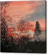 Riverton Sunset Canvas Print