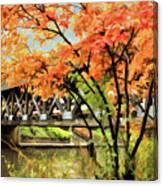 Riverwalk Covered Bridge Canvas Print