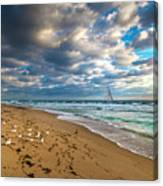 Riviera Beach Sunrise Canvas Print