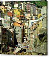 Riviera Hill Town Italy Canvas Print