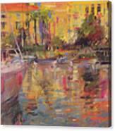 Riviera Moorings  Canvas Print