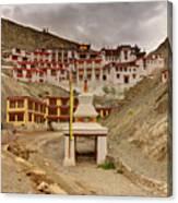 Rizong Monastery Ladakh Jammu And Kashmir India Canvas Print
