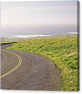 Road Along The Coast, Point Reyes Canvas Print
