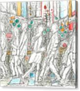 Road Crossing. 6 February, 2015 Canvas Print
