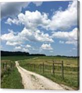 Road From The Farm Canvas Print