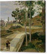 Road From Volterra Canvas Print