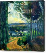 Road Leading To The Lake, By Paul Cezanne, Circa 1880, Kroller-m Canvas Print