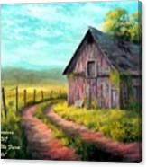 Road On The Farm Haroldsville L A Canvas Print