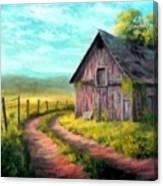 Road On The Farm Haroldsville L B Canvas Print