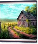 Road On The Farm Haroldsville L B With Alt. Decorative Ornate Printed Frame.   Canvas Print