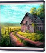 Road On The Farm Haroldsville L B With Decorative Ornate Printed Frame. Canvas Print