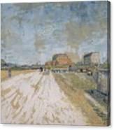 Road Running Beside The Paris Ramparts Paris, June - September 1887 Vincent Van Gogh 1853  1890 Canvas Print