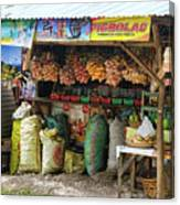 Road Side Store Philippines Canvas Print