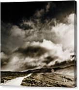 Road Storm Canvas Print
