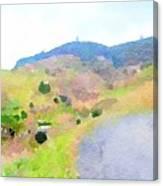 Road Through The Village Canvas Print