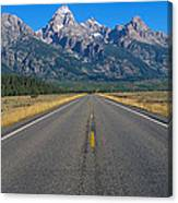 Road To Grand Teton National Park Canvas Print