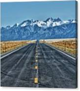 Road To Mountains Canvas Print