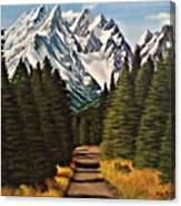 Road To Olympus Canvas Print