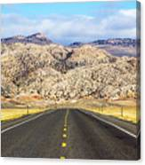Road To Owl Creek Mountains Wyoming Canvas Print
