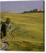 Road To Terrapille In Tuscany Canvas Print