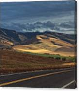 Road To The Blue's Canvas Print