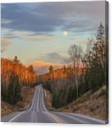 Road To The Moon Canvas Print
