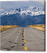 Road To The Mountains Panorama Canvas Print