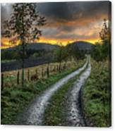 Road To The Sunset Canvas Print