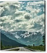 Road Travel Alaska Color  Canvas Print