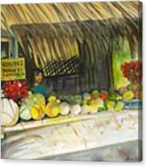 Roadside Fruit Stand Canvas Print