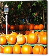 Roadside Pumpkin Stand Expressionist Effect Canvas Print