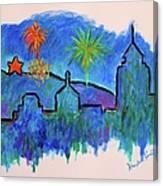 Roanoke In Blue Canvas Print
