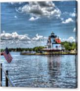 Roanoke River Lighthouse No. 2 Canvas Print