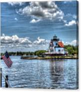 Roanoke River Lighthouse No. 2a Canvas Print