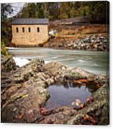 Roanoke River Niagra Rd Dam Canvas Print