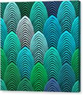 Roaring 20's Turquoise Canvas Print