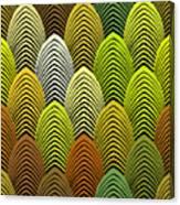 Roaring 20's Yellow Canvas Print