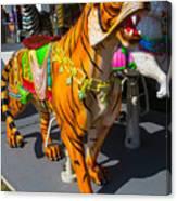 Roaring Tiger Ride Canvas Print