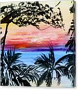 Roatan Sunset Canvas Print