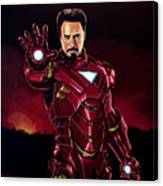 Robert Downey Jr. As Iron Man  Canvas Print
