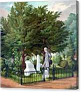 Robert E. Lee Visits Stonewall Jackson's Grave Canvas Print