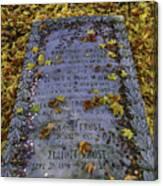 Robert Frosts Grave Canvas Print