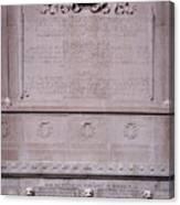 7- Robert Gould Shaw Monument - Back Side Eckfoto Boston Freedom Trail Canvas Print