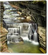 Robert H. Treman State Park Gorge Upper Falls Canvas Print