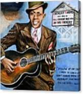 Robert Johnson Mississippi Delta Blues Canvas Print