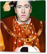 Robert Lewandowski As King Of Soccer Canvas Print
